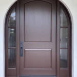 Arched Entry Door with 2 Fixed Sdlts