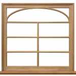 Fixed Window with Custom Arched TDL Bar Work