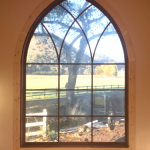 Gothic Fixed Window in Sapele with Custom Gothic TDL barwork
