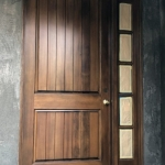 Arched Entry Door with Arched Fixed Sidelite