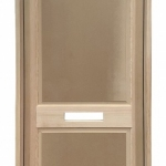 Inswing 2 Panel Entry Door with Mail Slot Cut-Out