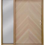 Prehung Custom Chevron Door with Fixed Sidelite